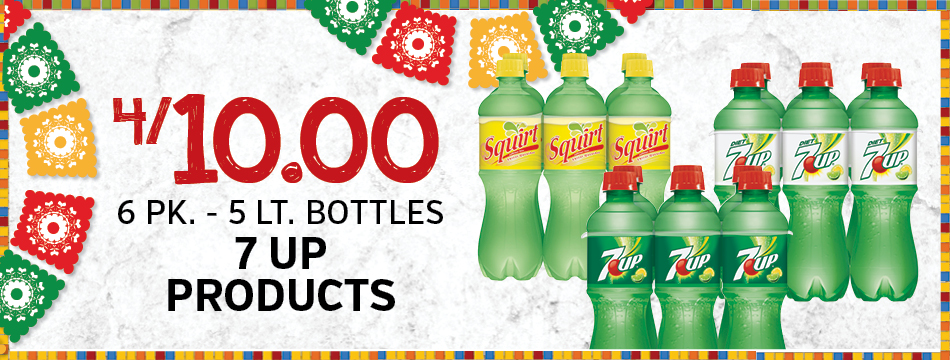 4/10.00 6 PK. - 5 LT. Bottles 7 Up Products